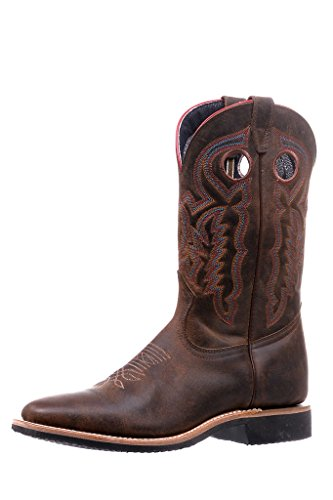 Bottes américaines - Bottes Cowboy BO-5201-EEE (pied fort) - Homme - Cuir - marron