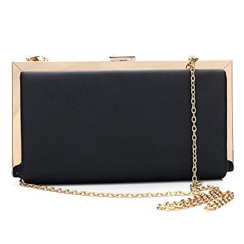 Black Wallet Clutch Rhinestone Party Handbag Designer Evening for Wedding Purse Women qwvHHgS6