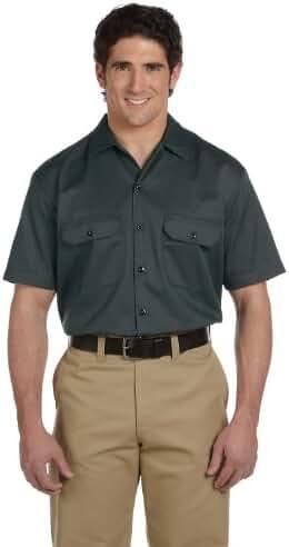 Dickies Men's 5.25 oz. Short-Sleeve Work Shirt, Charcoal, 4XL