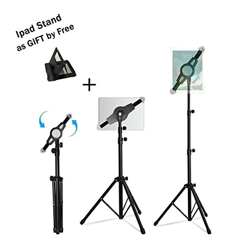 Ipad Tripod Mount Floor Stand, Weiyudang Height Adjustable 20 to 60 Inch Tablet Tripod Stand Mount For Ipad ,Ipad Mini and Others Within 7-12 Inch, Carrying Case Includeed (Upgrade new tripod)