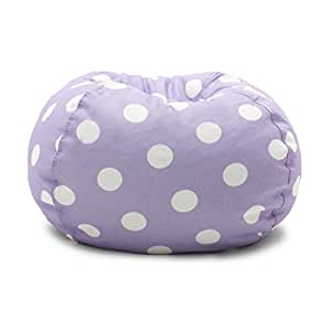 Fine Big Joe Lavender Polka Dot Classic Bean Bag Chair Lavendar With White Gmtry Best Dining Table And Chair Ideas Images Gmtryco
