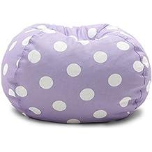 Big Joe Classic Bean Bag Chair, Lavender Polka Dot