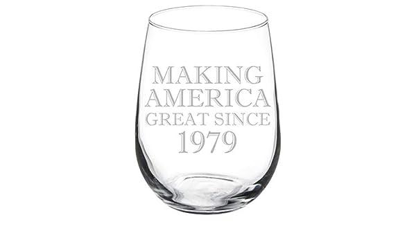 Copa de vino sin tallo grabada con láser para hacer América ...
