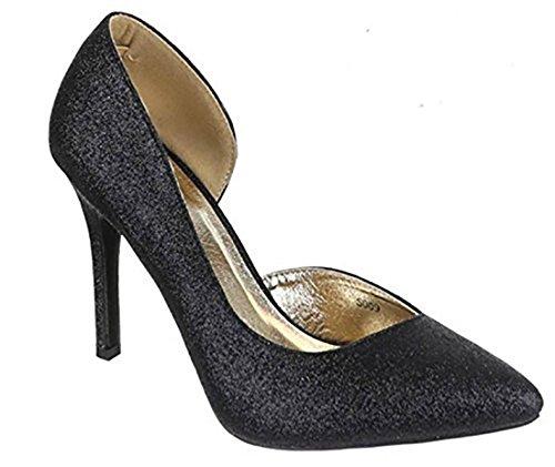 scarpe Scarpe alto scarpe Nero scarpe lurex tacco alte eleganti donna MYWY donna scarpe wXqUBFFd