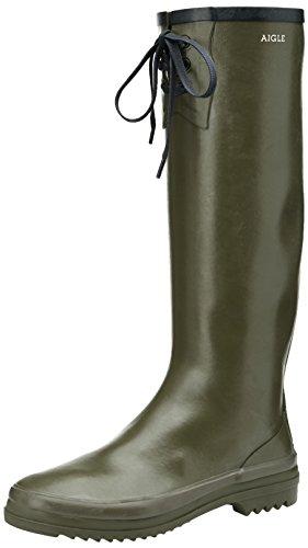 Aigle Miss Marion, WoMen Rain Boots, Green (Kaki/Marine), 5 UK (38 EU)
