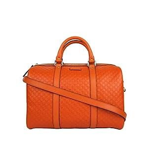 Gucci Women's Guccissima Leather Medium Boston Bag With Shoulder Strap 449646 1226