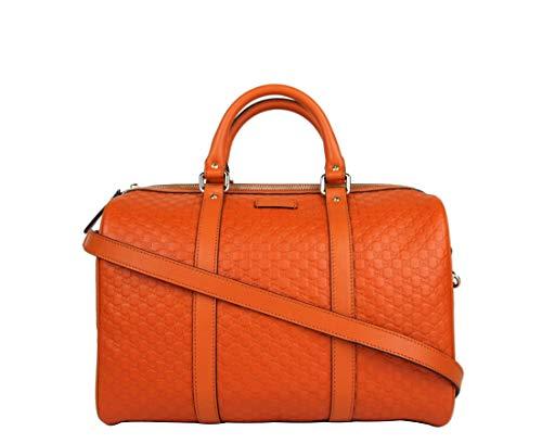 Gucci Women's Orange Guccissima Leather Medium Boston Bag 449646 7527