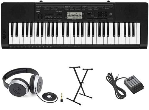 (Casio CTK-3500 Premium Keyboard Package with Headphones, Stand, and Sustain Pedal)
