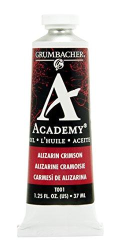 Grumbacher Academy Oil Paint, 37 ml/1.25 oz, Alizarin (Academy Oil Paint)