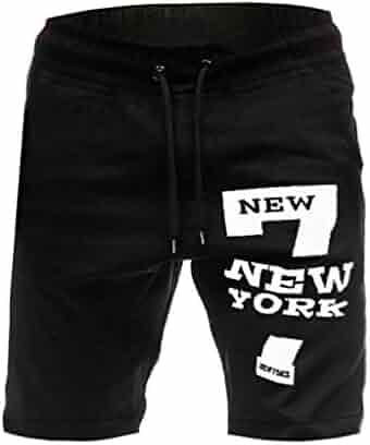 736be74833 wodceeke Men's Summer Casual Shorts, Solid Pocket Drawstring Gym Running  Workout Shorts Active Training Shorts