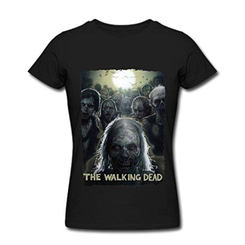 the walking dead t shirt for women black deadicated fans. Black Bedroom Furniture Sets. Home Design Ideas