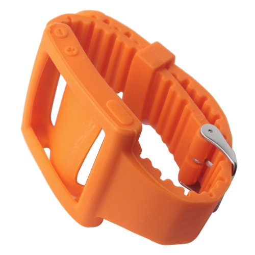 eFuture(TM) Orange Silicone Sports watch Wristband Case fit for iPod Nano 6 Generation +eFuture's nice Keyring (Nano Orange Case Ipod)