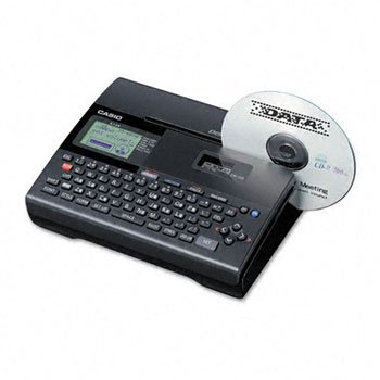 Casio® CW-K85 Stand-Alone or PC Compatible Disc Title Printer LABELMAKER,CD DISC PRT,BK
