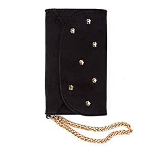 "iPhone X, Sonix BLACK VELVET Embellished Wristlet - Wallet Cell Phone Case for Apple (5.8"") iPhone X"