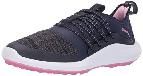 PUMA Golf Women's Ignite Nxt Solelace Golf Shoe, Peacoat-Metallic Pink, 10.5 M US