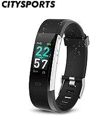 CITYSPORTS Fitness Armband, Smartwatch Waterproof IP68, Armband mit angeschlossenem Farbbildschirm, Fitness-Aktivitäts-Tracker GPS/Herzfrequenzmonitor Android iOS