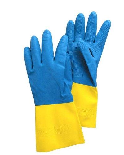 Agrihypermart AHM BYG BI-Color Nitrile Gloves for Garden Works and Moisture Works