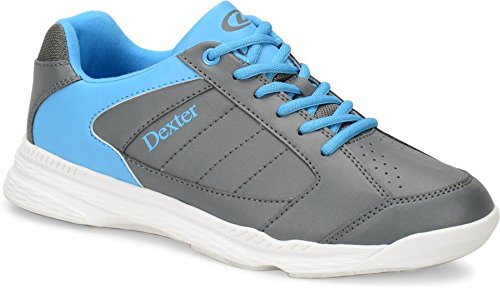 Dexter Men's Ricky IV Bowling Shoes, Grey/Blue, Size 12/Medium