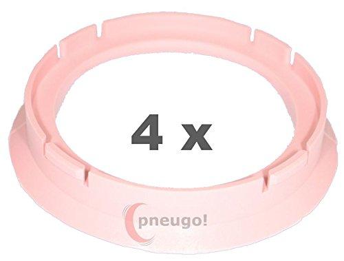 4x Zentrierringe Kunststoff 70.0mm auf 57.1mm rosa by pneugo!® pneugo!®