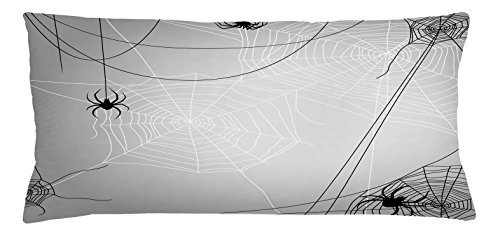 Ambesonne Spider Web Throw Pillow Cushion Cover, Spiders