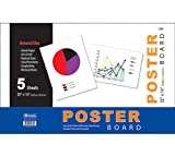 BAZIC 22'' X 14'' White Poster Board (5/Pack) (Case of 48)