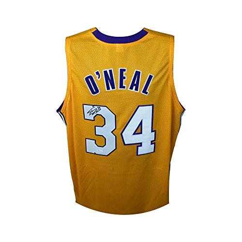 (Shaquille O'Neal Autographed Los Angeles Lakers Gold Custom Shaq Basketball Jersey - JSA COA)
