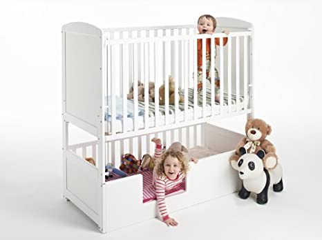 The Bunk Cot Company 3 In 1 Bunkcot 0 6 Yrs White Amazoncouk Baby