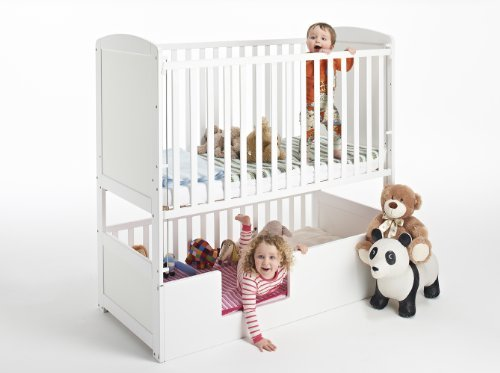 The Bunk Cot Company 3 In 1 Bunkcot 0 6 Yrs White Amazon Co Uk Baby