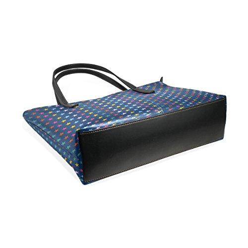 Per Bag Borse In Medio Tote Pu Le E A Pelle Borsa Donne Coosun Colorfulstars Tracolla Muticolour PnvgwSfxF