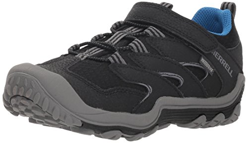 Hiking Shoe 3 Low (Merrell Boys' Chameleon 7 Access Low A/C WTRPF Hiking Shoe, Black, 3 Medium US Little Kid)