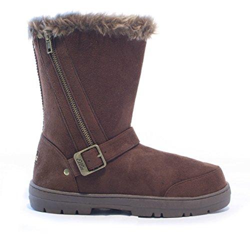 Ella Shoes Libby - Botas de Material Sintético Para Mujer Marrón Marrón QLaGMGhoXK