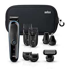 Discover one of Braun best gifts for men with the new all-in-one trimmer mgk 3980. Achieve a range of different lengths (0.5 - 21mm) for hair, beard and body trimming. 13 length settings and lifetime sharp blades for ultimate precision. 9-In-...