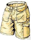 Skillers Work Shorts 32 Waist 5093 Khaki