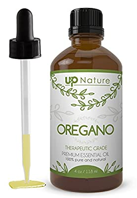 UpNature Wild Oregano Oil 4 OZ - 100% Pure and Natural, Undiluted and Unfiltered, GMO Free, Premium Quality - Oil of Oregano Is Perfect For Use For Colds, Sore Throats, Coughs