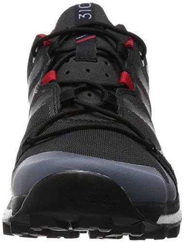 zapatos para caminar al aire libre de los hombres de adidas Terrex Agravic núcleo gris oscuro / negro / gris de alimentación rojo / Negro - AF6134 negro