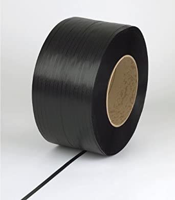 """PAC Strapping 58H.80.2154 Polypropylene Heavy Duty Hand Grade Strapping, 5,400' Length, 5/8"""" Width, Black"""