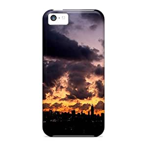 EkO51920mSNs Awesome Cases Covers Compatible With Iphone 5c - Sunset Clouds Over The City