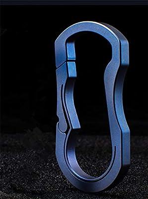 KUNSON Llavero de Titanio Ultraligero con diseño de ...