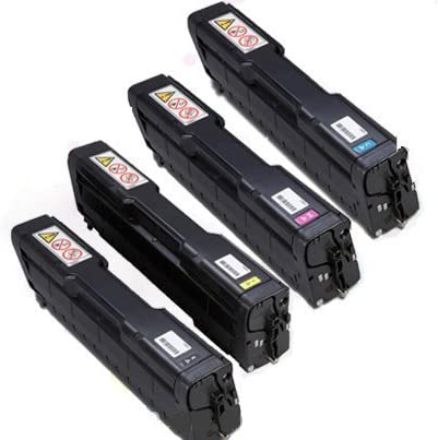 eToner Aficio Brand SPC252DN SPC252SF Set Black Cyan Magenta Yellow Toner Cartridges High Yield
