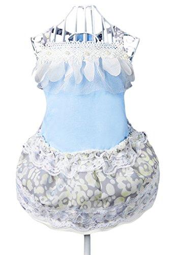 [Uniquorn 2017 New Spring Summer Pet Dog Clothes Elegant Fashion Chiffon Roses Skirt Super Cute Shirt Breathable Comfortable Pet] (Ewok Costume Adults Uk)