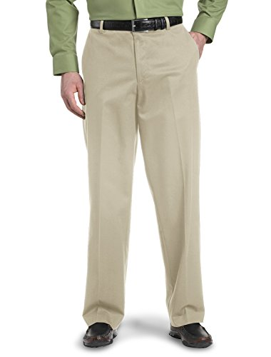 Dockers Big & Tall Iron Free Flat-Front Pants (50 X 30, British Khaki)