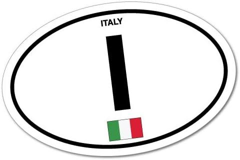 Amazon Com Italy Country Code Sticker Flag Bumper Water Proof Vinyl Automotive