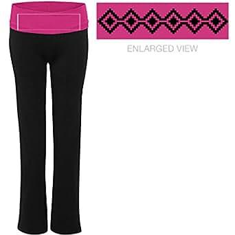 Aztec Pattern Strip: Junior Fit Yoga Pants