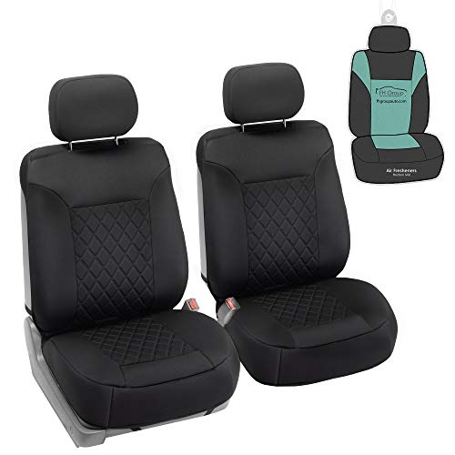 FH Group FB088102 Neosupreme Deluxe Quality Car Seat Cushions (Black)