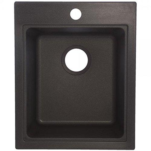 Franke SOX1720-1 Single Bowl Sink Utility Granite 9-Inch Deep, Onyx