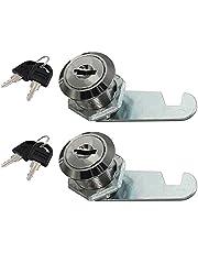 Cabinet Locks, Cupboard Lock with Keys, Durable Cam Lock for Drawer, Cupboard, Mailbox, Locker, 2PCS