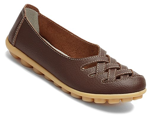 mujer mujer FangstoFlats zapatilla FangstoFlats marrón marrón zapatilla baja baja pWRnFqF