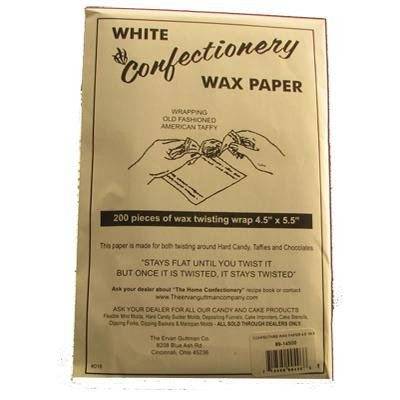 White Confectionaery Wax Paper for Wrapping Candy / 200 Sheets by Guttman