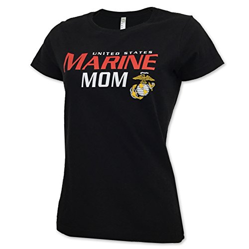 Ladies US Marine Mom T-Shirt, small, black
