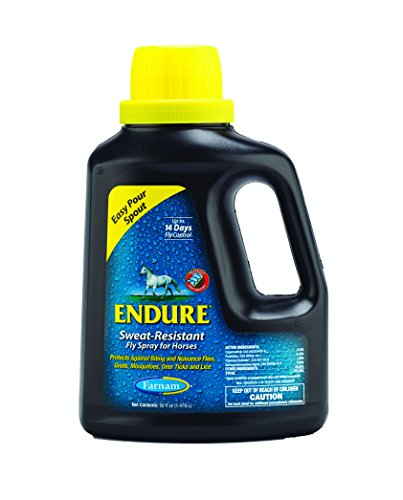 Farnam Endure Sweat-Resistant Fly Spray for Horses, 50 oz Easy Pour -